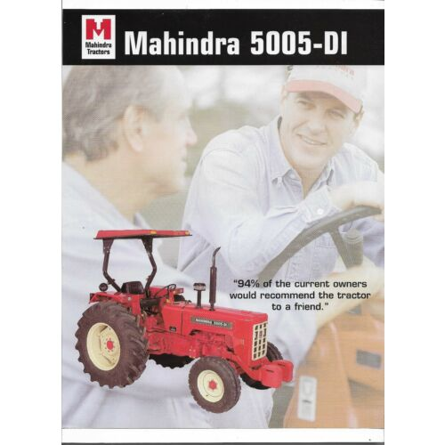 original-mahindra-model-5005-di-tractor-sales-brochure-spec-specifications-sheet