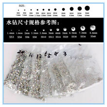 US STOCK Crystal AB Rhinestones Flatback Clear Strass Stones for Nail Art #02