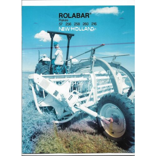 original-new-holland-57-256-258-260-216-rolabar-rake-sales-brochure-no-31005754