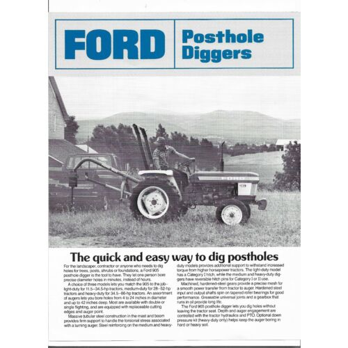 original-ford-model-905-posthole-digger-specifications-sales-brochure-ad2671