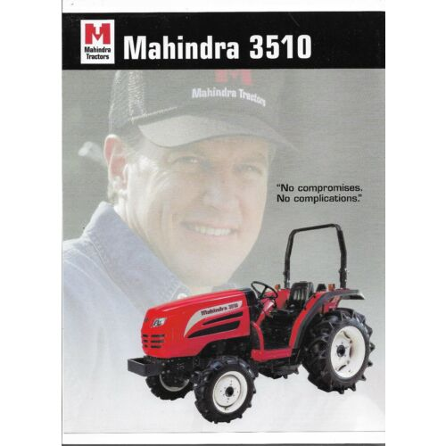 original-oe-oem-mahindra-3510-tractor-sales-brochure-spec-specifications-sheet