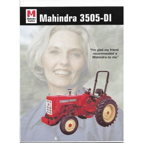 original-mahindra-3505di-tractor-dealer-sales-brochure-spec-specifications-sheet