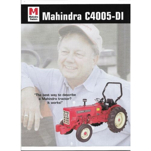original-mahindra-c4005di-tractor-dealer-sales-brochure-spec-specification-sheet