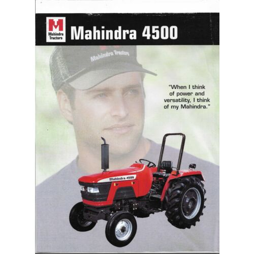 original-mahindra-4500-tractor-dealer-sales-brochure-spec-specifications-sheet