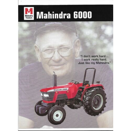 original-mahindra-6000-tractor-dealer-sales-brochure-spec-specifications-sheet