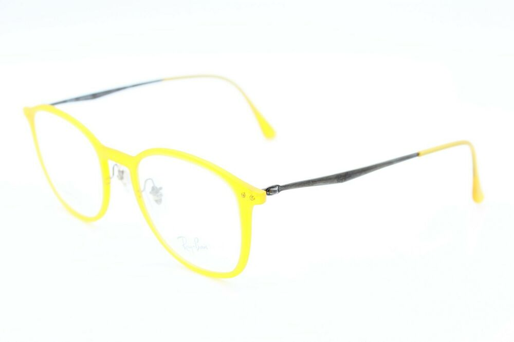 3301e10db6 NEW RAY-BAN RB 7051 5519 LIGHTRAY AMBER AUTHENTIC EYEGLASSES FRAME RB7051  49-20