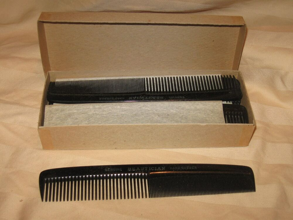 12 Pcs Vintage 7 Quot Hard Rubber Beautician Barber Styling