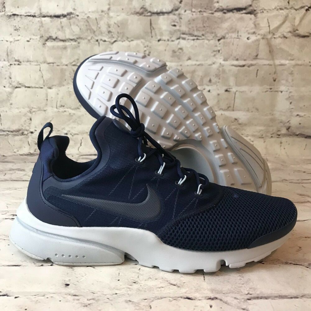 f04fb704f8fd Details about Nike Presto Fly Mens 908019-403 Midnight Navy Blue Mesh
