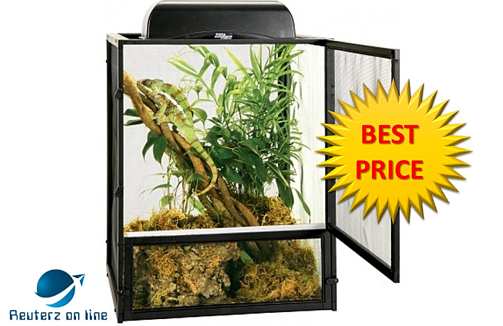 Zoo Med Reptibreeze Open Air Black Aluminum Screen Cage S