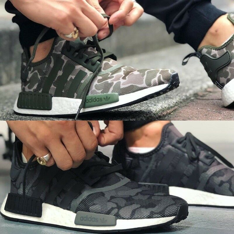 hot sale online 23f34 cb2a2 Details about Adidas Originals NMD R1 Duck Camo Men s Comfy Shoes Lifestyle  Sneakers
