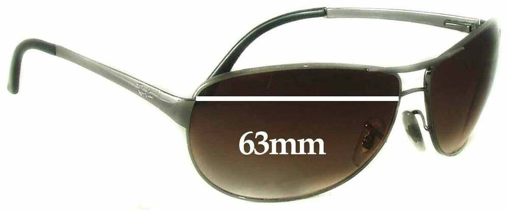 3ba172124b Details about SFx Replacement Sunglass Lenses fits Ray Ban Warrior RB3342 -  63mm wide