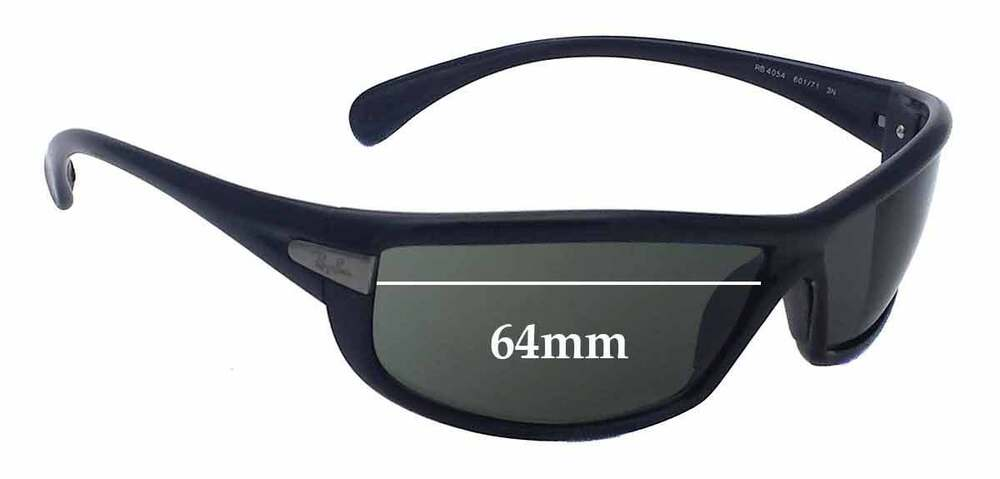 1cdc464790 Details about SFx Replacement Sunglass Lenses fits Ray Ban RB4054 - 64mm  Wide