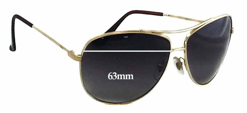 f10e9216fcf Details about SFx Replacement Sunglass Lenses fits Ray Ban RB3293 - 63mm  Wide