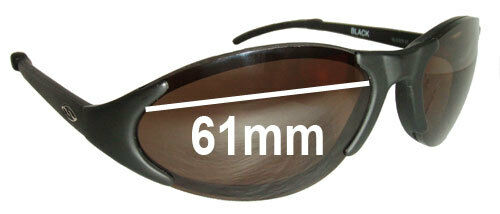 0e2455c1588 Details about SFx Replacement Sunglass Lenses fits Smith Slider 01 - 61mm  wide