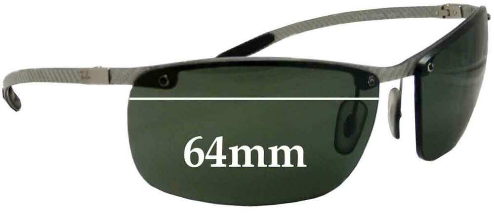2cc214b924 Details about SFx Replacement Sunglass Lenses fits Ray Ban Tech RB8306 -  64mm Wide - Professio