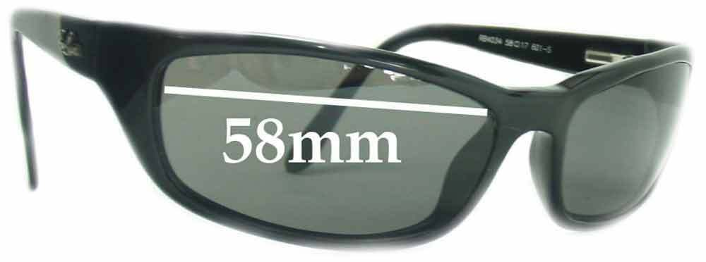0ed12d9e1b2 Details about SFx Replacement Sunglass Lenses fits Ray Ban RB4034 - 58mm  across