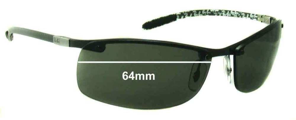 49a78575817 Details about SFx Replacement Sunglass Lenses fits Ray Ban Tech RB8305 -  64mm Wide - Professio