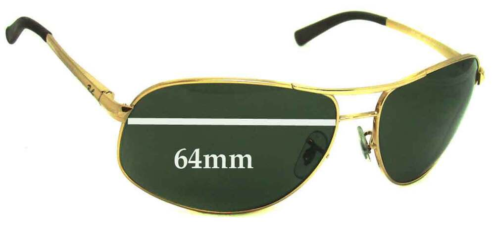 d564ff68b Details about SFx Replacement Sunglass Lenses fits Ray Ban RB3387 - 64mm  wide