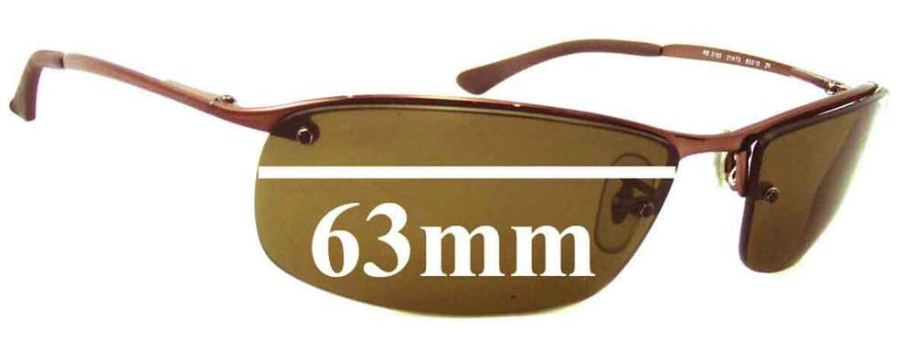 a50f0877f5 Details about SFx Replacement Sunglass Lenses fits Ray Ban RB3183 Top Bar - 63mm  Wide