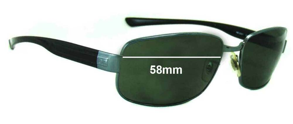 c9825f8fe18 Details about SFx Replacement Sunglass Lenses fits Ray Ban RB3331 - 58mm  wide