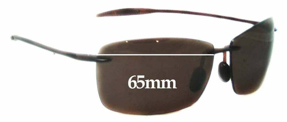 9408f4c09ee Details about SFx Replacement Sunglass Lenses fits Maui Jim Lighthouse  MJ423 - 65mm Wide