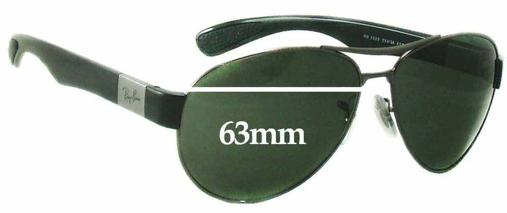 06750eebd3 Details about SFx Replacement Sunglass Lenses fits Ray Ban RB3509 - 63mm  wide