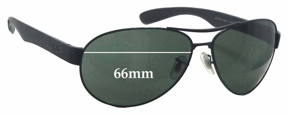 8720f47342d Details about SFx Replacement Sunglass Lenses fits Ray Ban RB3509 - 66mm  wide
