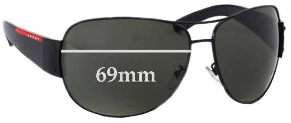 85a7bb7f2bb55 Details about SFx Replacement Sunglass Lenses fits Prada SPS54E - 69mm wide