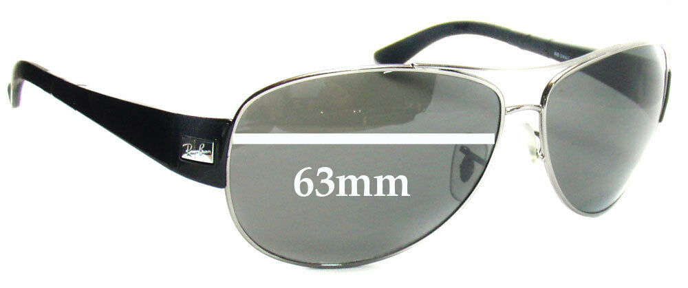 4fe61ab61a Details about SFx Replacement Sunglass Lenses fits Ray Ban RB3467 - 63mm  across