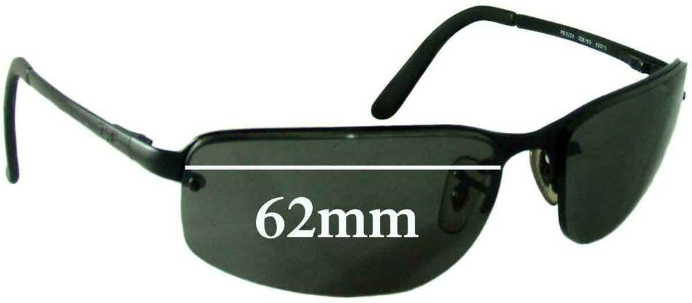 81df16c6754028 Details about SFx Replacement Sunglass Lenses fits Ray Ban RB3239 - 62mm  wide