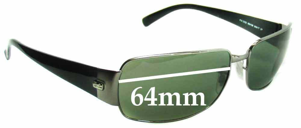 f9d7136d5b7 Details about SFx Replacement Sunglass Lenses fits Ray Ban RB3332 - 64mm  wide