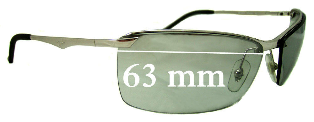 6fc40fd442e Details about SFx Replacement Sunglass Lenses fits Ray Ban RB3359 - 63mm  Wide