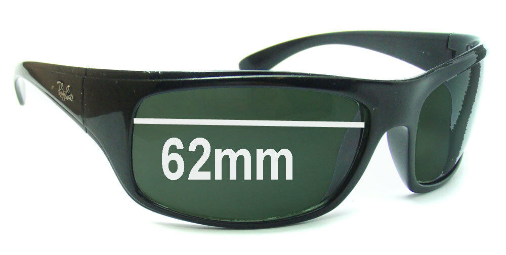 b19477eade0 Details about SFx Replacement Sunglass Lenses fits Ray Ban RB4092 - 62mm  wide