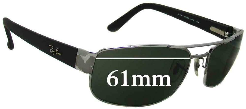 525775bf24 Details about SFx Replacement Sunglass Lenses fits Ray Ban RB3188 - 61mm  Wide