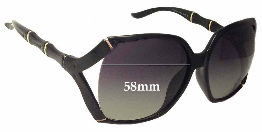 45fc69c6d8 Details about SFx Replacement Sunglass Lenses fits Gucci GG3508 S - 58mm  Wide