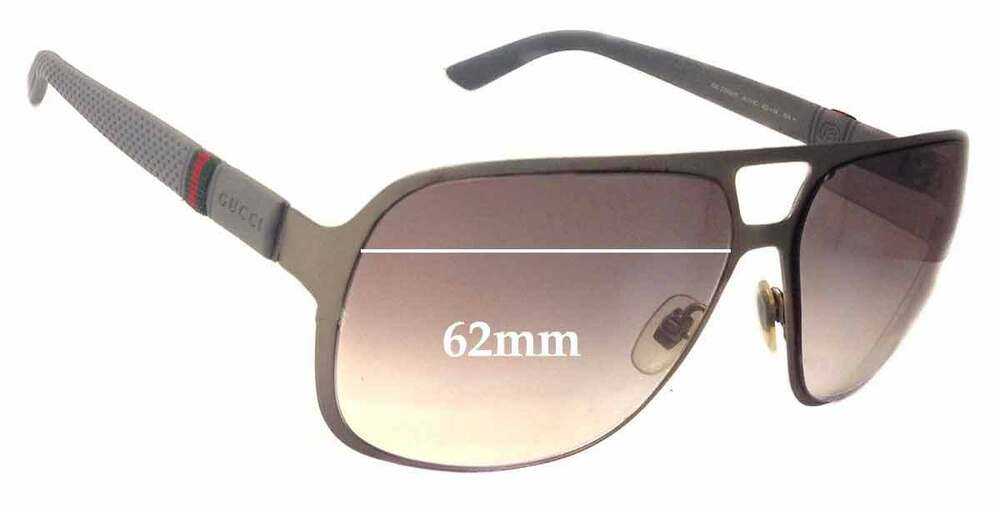 3d7a0c7541 Details about SFx Replacement Sunglass Lenses fits Gucci GG2253 S - 62mm  Wide