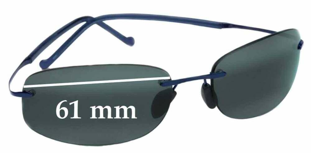 954a3aa2f4b16 Details about SFx Replacement Sunglass Lenses fits Maui Jim Honolua Bay  MJ-516 - 61mm Wide