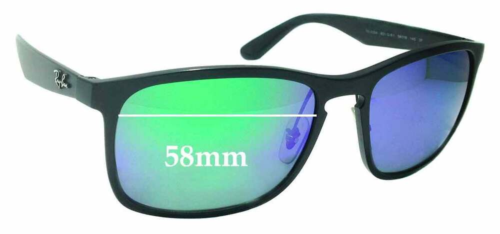 e3a0684cfff Details about SFx Replacement Sunglass Lenses fits Ray Ban RB4264 Chromance  - 58mm wide