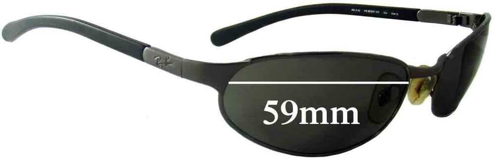 8539cb2f1c Details about SFx Replacement Sunglass Lenses fits Ray Ban RB3142 - 59mm  wide