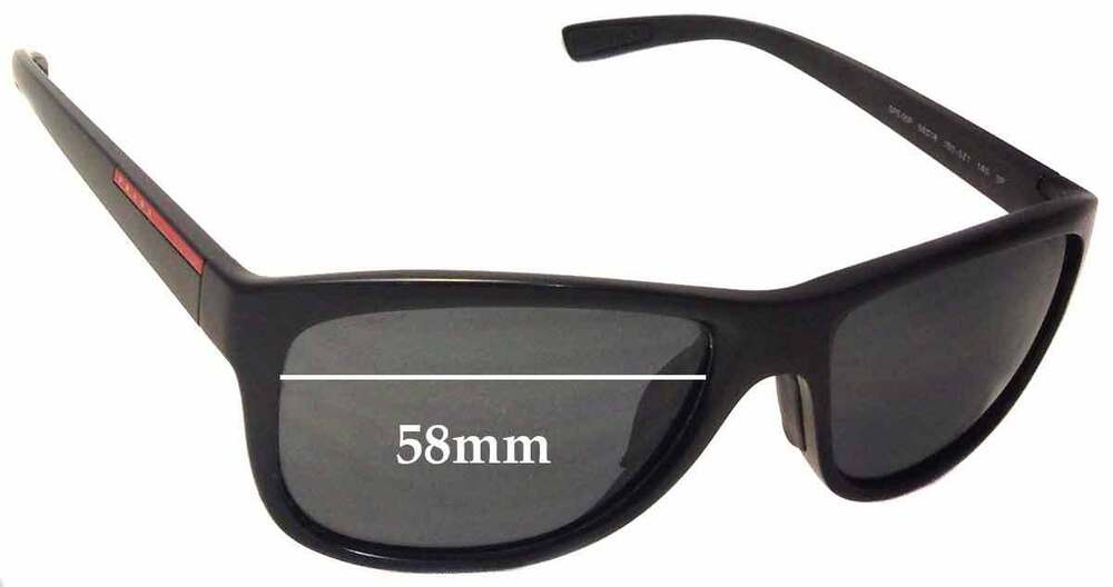 fe2592db8c Details about SFx Replacement Sunglass Lenses fits Prada SPS05P - 58mm wide
