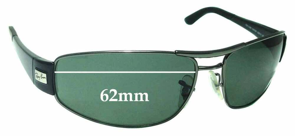 98317f9d03bfa Details about SFx Replacement Sunglass Lenses fits Ray Ban RB3395 - 62mm  Wide