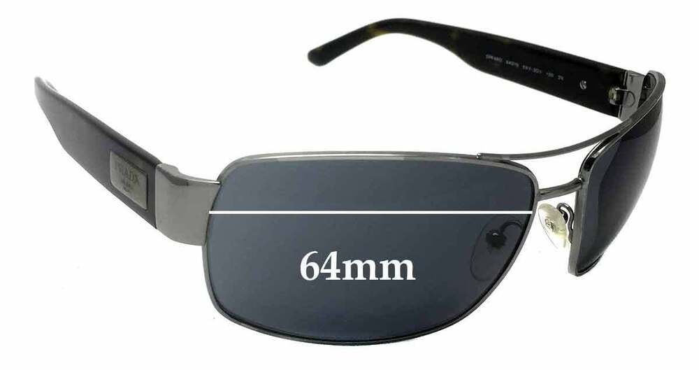 50e3b9920a Details about SFx Replacement Sunglass Lenses fits Prada SPR66O - 64mm wide
