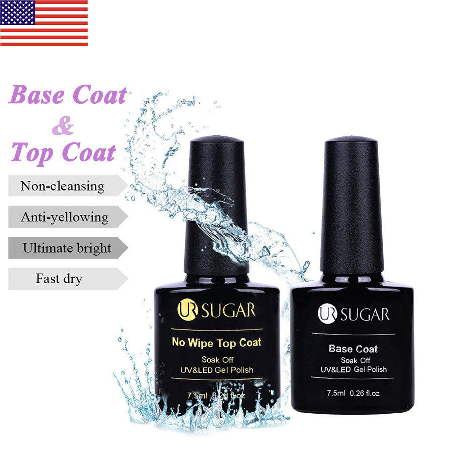 7.5ml No-wipe Base Matte Top Coat Gel Nail Polish UV&LED Lamp Gel ...