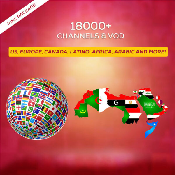 2 Days IPTV SUBSCRIPTION +18000 Ch&VOD US, CA, EUROPE, LATINO, AFRICA, ARAB