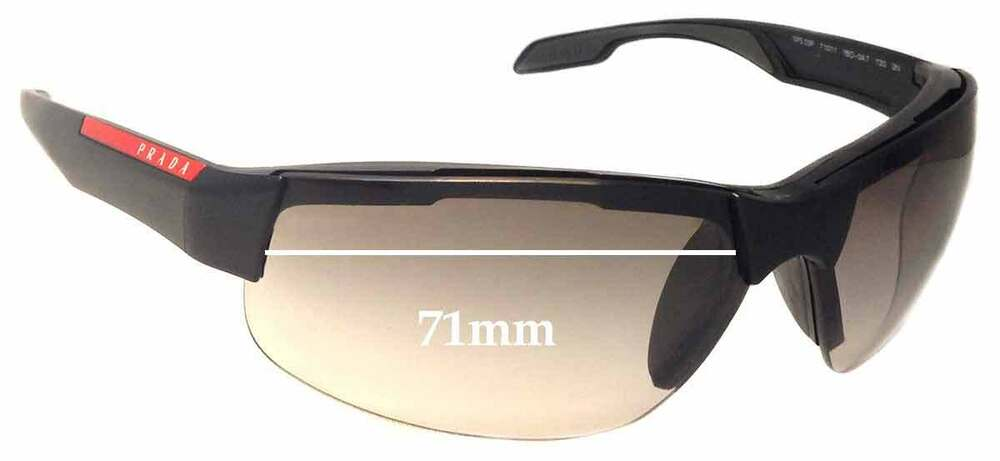 116e6fe159 Details about SFx Replacement Sunglass Lenses fits Prada SPS03P - 71mm wide