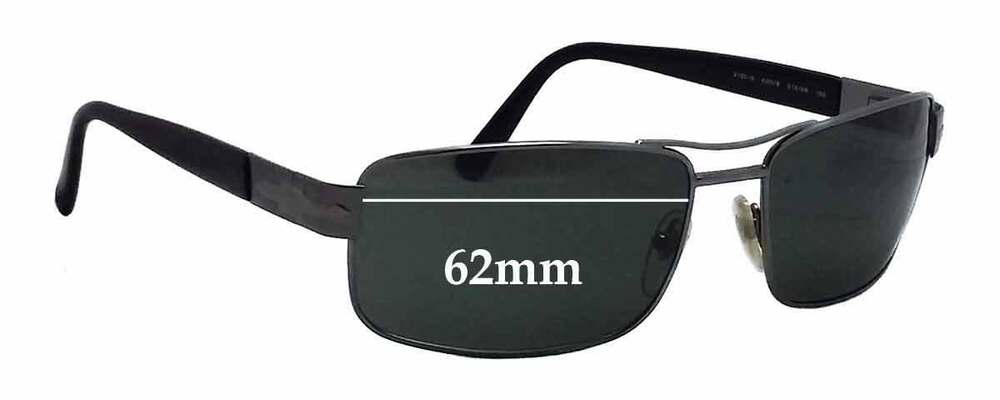 38ee715d76 Details about SFx Replacement Sunglass Lenses fits Persol 2130-S - 62mm wide