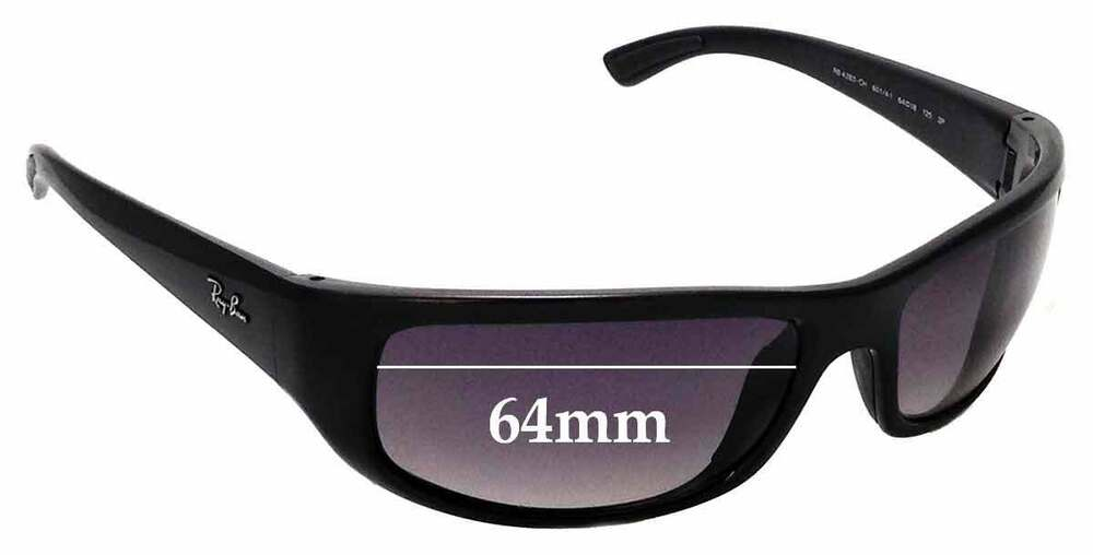 8ab25a76f9 Details about SFx Replacement Sunglass Lenses fits Ray Ban RB4283-CH - 64mm  wide