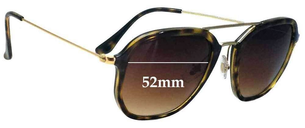 90b11fddc1 Details about SFx Replacement Sunglass Lenses fits Ray Ban RB4273 - 52mm  wide