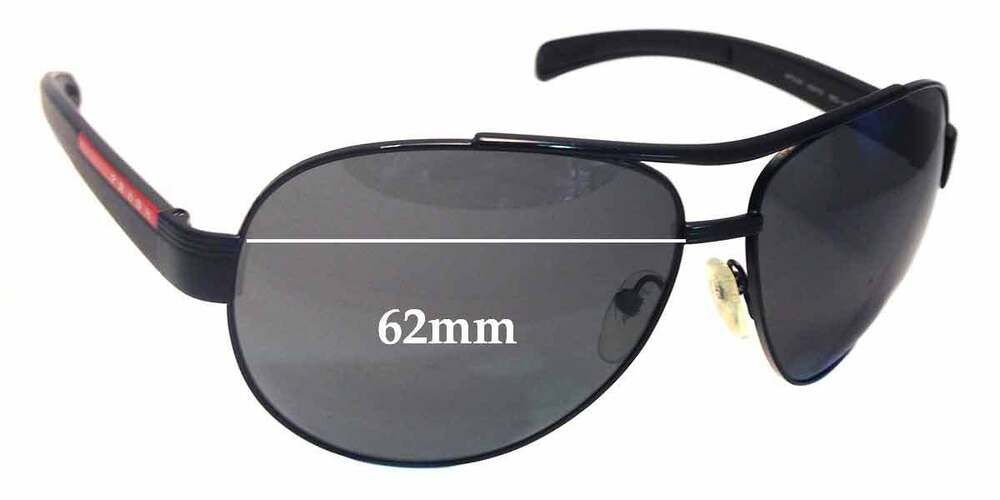 481f11ac61 Details about SFx Replacement Sunglass Lenses fits Prada SPS50I - 62mm Wide