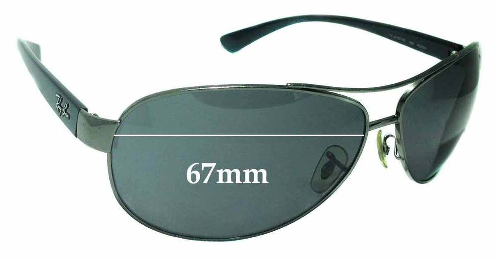 6f8f88bb45 Details about SFx Replacement Sunglass Lenses fits Ray Ban RAJ2157AD RC001  - 67mm wide